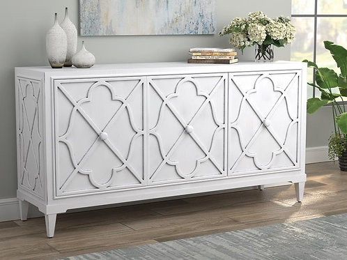 Cali 951825 Antique White Finish Accent Cabinet
