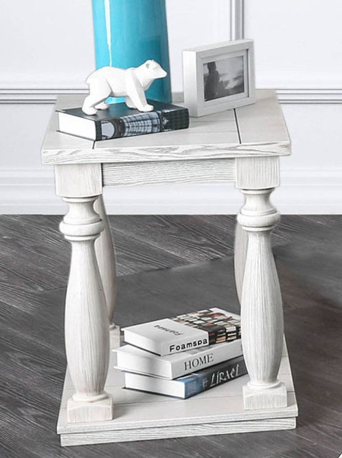 ARLINGTON Imprad Rustic Antique White End Table