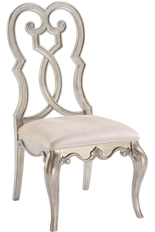 All ESTEBAN ANTIQUE CHAMPAGNE FINISH Side Chair