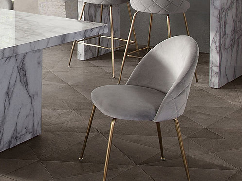 Lilly Dream Grey Velvet with Gold Legs Dining Chair