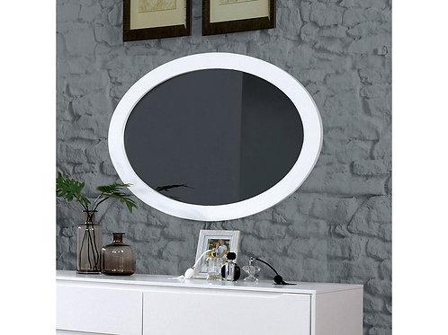 Lennart Imprad White Mid-Century Mirror