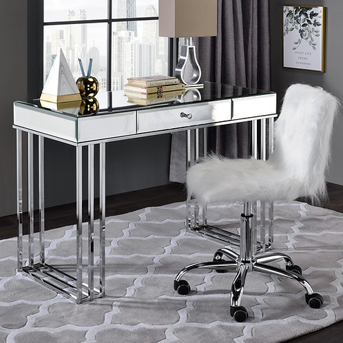 All Critter 92979 Mirrored and Chrome Finish Writing Desk