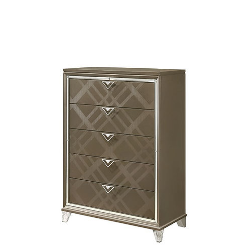 All Skylar Glam, Contemporary Dark Champagne Chest