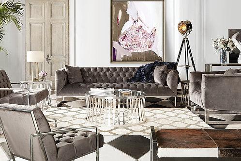 Dream Crawford Dusk Grey Velvet Sofa