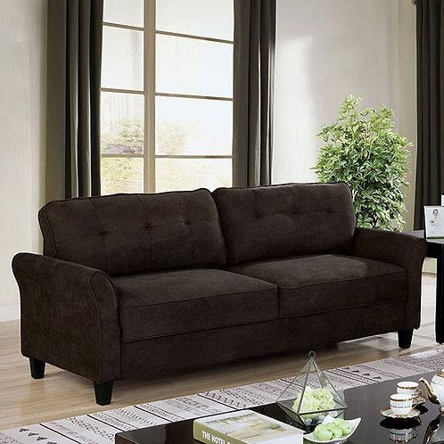 ALISSA Imprad Fabric Brown Sofa
