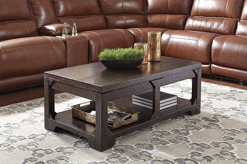 Angel Rogness Rustic Brown Lift Top Cocktail Table
