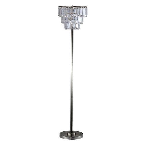 Meg Imprad Clear / Silver Metal Floor Lamp