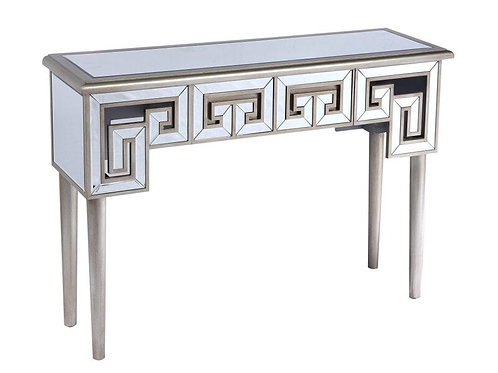 Emeral Heritage Antique Champagne Glam Mirrored Sofa Table