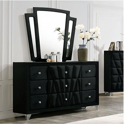CARISSA Imprad Transitional Black Velvet Dresser