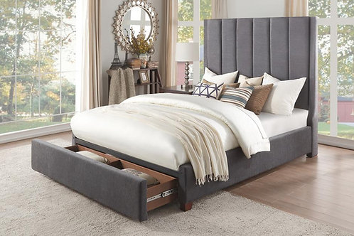 Neuna Henry Dark Brown Bed with Storage