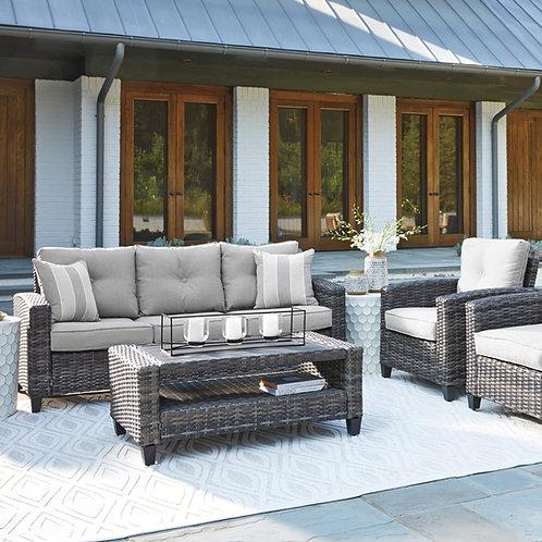 Cloverbrooke Angel Grey Sofa, 2 Chairs, and Coffee Table