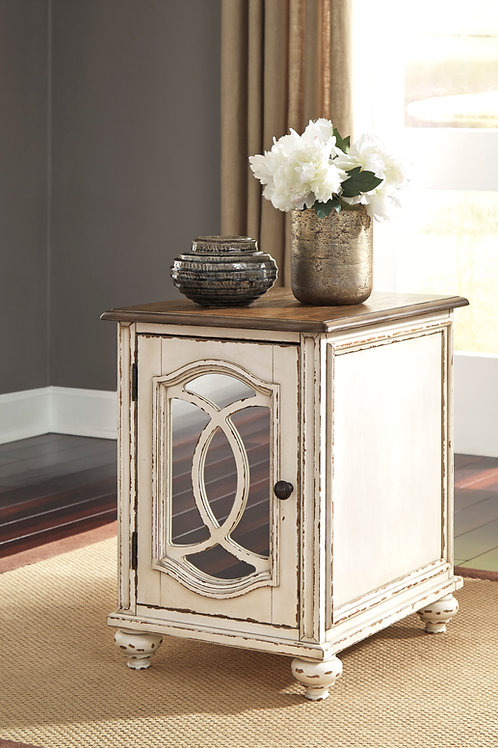 Angel Realyn Rustic White/Brown Chair Side End Table