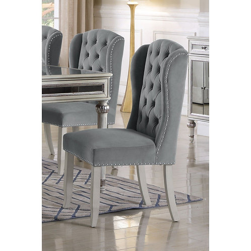 T1910 Best Grey Fabric Chair with Nail Heads