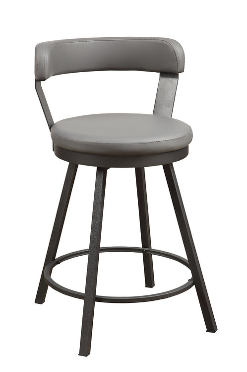 Appert Henry Swivel Counter Height Chair, Gray
