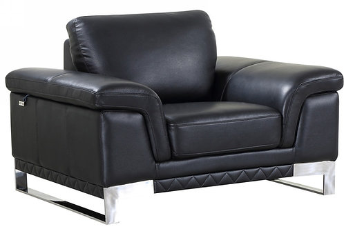 Geo 411 Black Chair Italian Leather