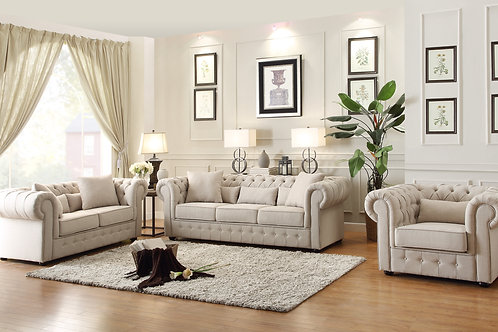 Savonburg Henry Beige Chesterfield Sofa