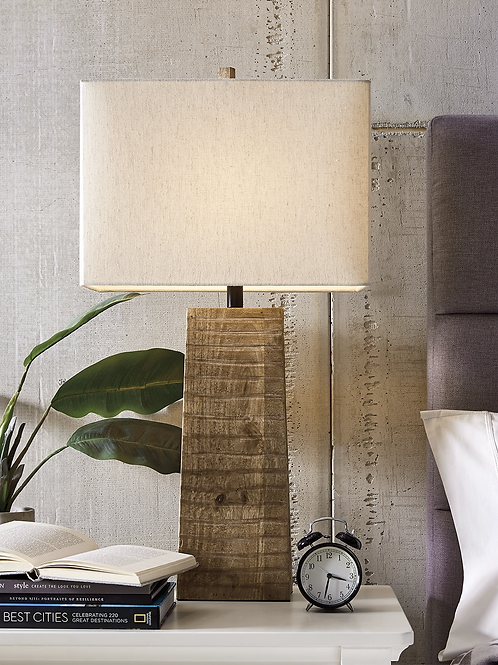 Deonte Angel Wooden Table Lamp