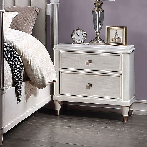 Celestia All Off White Nightstand