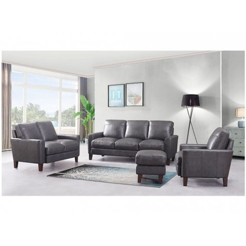CHINO Italia - GREY Modern Genuine Leather Sofa