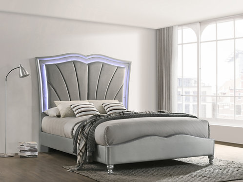 Bowfield Cali Upholstered Bed With LED Lighting Grey