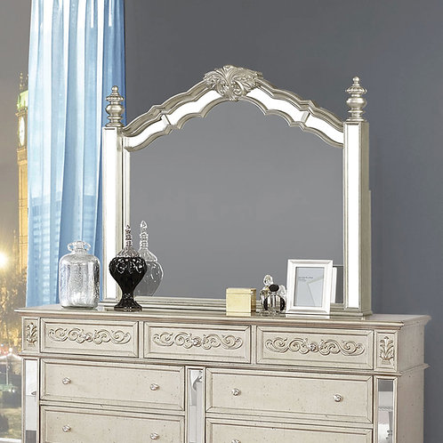 Heidi Cali Arched Mirror Metallic Platinum