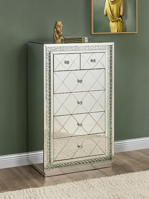 All 97948 Glam Mirrored Nysa Cabinet