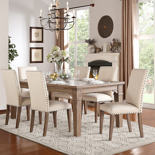 Mill Henry Weathered Wash Finish Dining Table