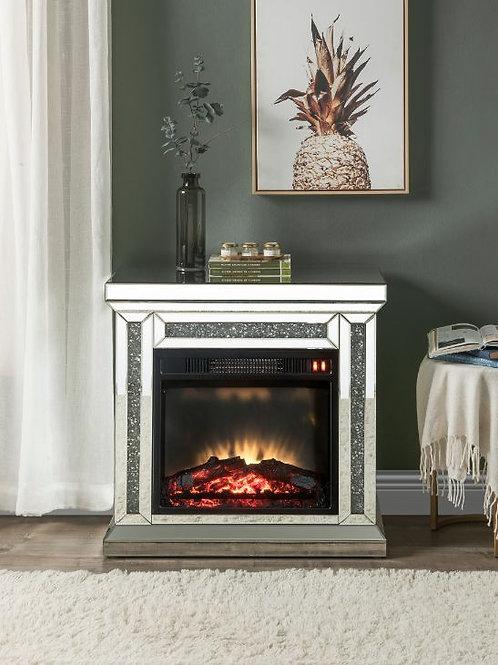 Fireplace - 90862 All Mirrored & Faux Diamonds