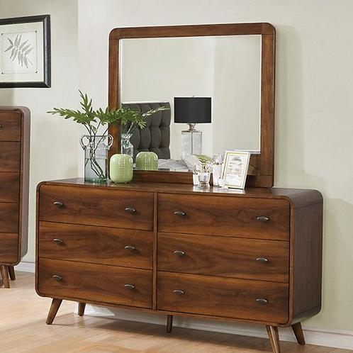 Cali Mid-Century Robyn Dark Walnut Dresser