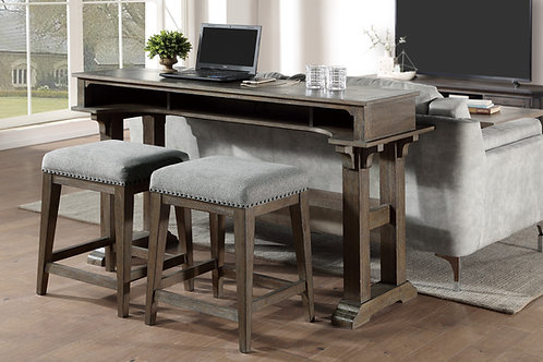Henry Transitional Sarasota Brown  Console Counter Height Table