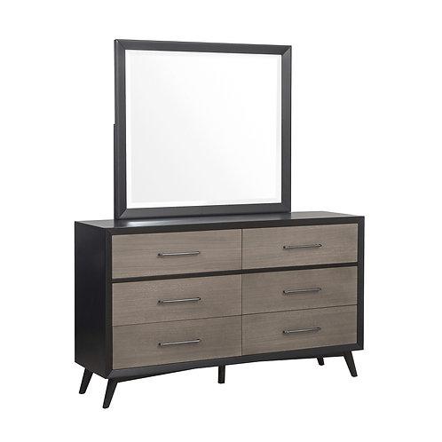 Raku Grey/Black Henry Mid-Century Modern Dresser