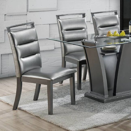 Faux leather Side Chair Port 1784 Grey