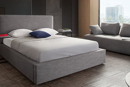 Cloud Dream Grey Platform Bed