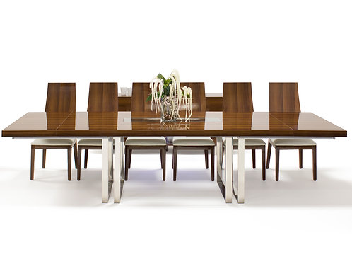 Galway Shar Dining Table in Walnut Lacquer