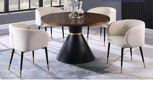 HX009 BestM 5pc Set (Table + 4 Cream Chairs)