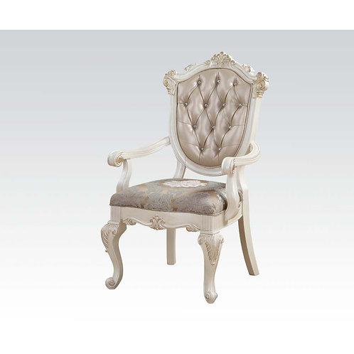 Chantelle All Arm Chair Rose Gold PU & Pearl White