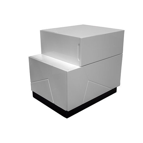 Berlin Best Modern Lacquer Black/White Left and Right Nightstands
