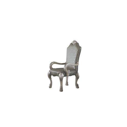 Dresden All Arm Chair Traditional, Vintage, Bone White and PU