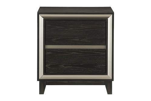 Henry Grant Oak Finish w/Silver Banding Nightstand