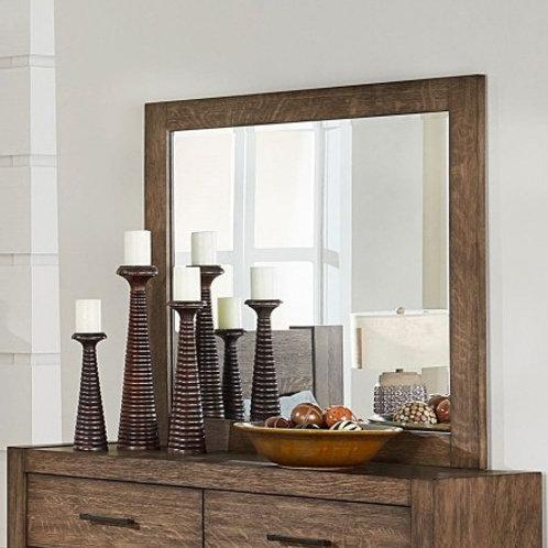 Korlan Henry Brown Oak Contemporary Mirror