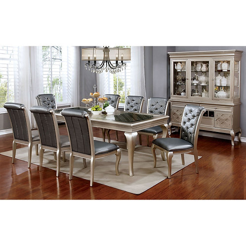 Amina Imprad Champagne Finish Dining Table