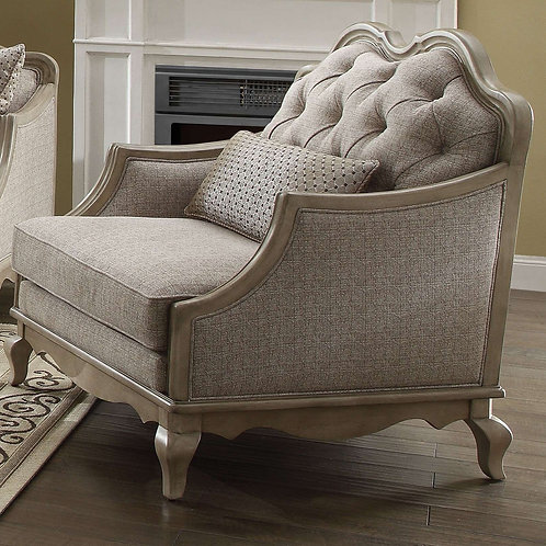 Chelmsford All Chair Beige Fabric & Antique Taupe Finish