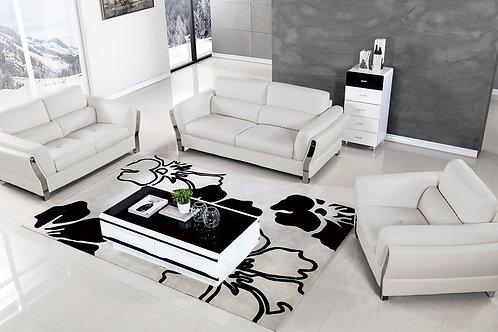 690 AE White Microfiber Leather Sofa