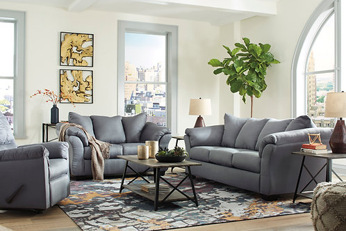 Darcy Angel Grey Contemporary Sofa