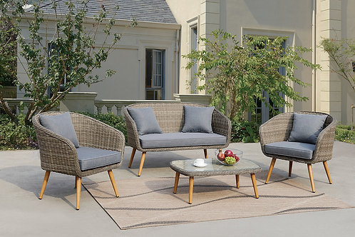 50290 Port 4pc Paio Set ( Loveseat, 2 Chairs, Cocktail Table)