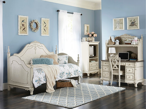 Cinderella Henry Antique White Twin Daybed