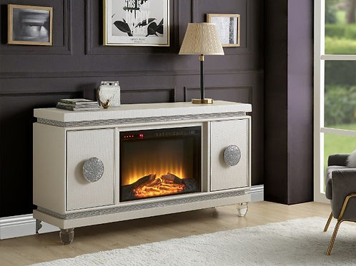 Fireplace - 90535 All Ivory TV Stand