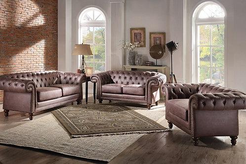 Shantoria II All Sofa Brown Polished Microfiber