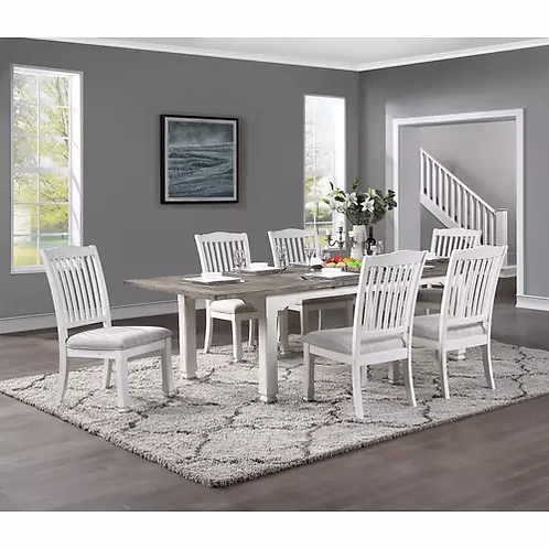 Emeral Centerville Antique White Dining Table w/Butterfly Leaf