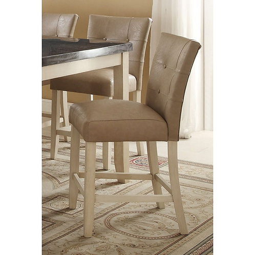Faymoor All Cream PU Antique White Counter Height Chair